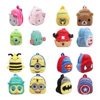 Wholesale mochila Children s gifts kindergarten boy backpack Plush baby children school bags design kid girls lovely K T plush toy bags