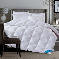 Wholesale 100 white goose duck down comforter duvet thickening winter autumn quilt blanket king queen twin size free ship