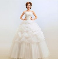 beautiful indian wedding dresses - Strapless Design sexy indian wedding dress slimming bride beautiful wedding long dress plus size evening dress ball gown
