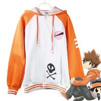 Wholesale Katekyo Hitman Reborn Cosplay Costumes Casual Jackets Vongola Sawada Tsunayoshi Tsuna Unisex Hoodies Cardigan Sportswear Hooded