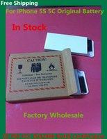 Wholesale Original Brand Cell Phone Battery mAh mAh Replacement Built in lithium Li ion Batterie Bateria For iPhone s c