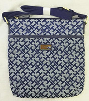 Wholesale new style women good quality light canvas plaid zipper tassel cross body bags messenger bag