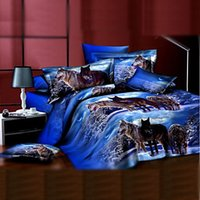 bedding duvet cover selling - Duvet Cover Direct Selling for Queen Full Home Bed Sheet New Arrival d Reactive Print Wolf In The Snow Pieces Bedding Sets