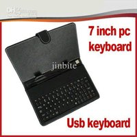 Wholesale 30pcs colors leather Flip Stand keyboard case for inch tablet pc epad apad a23 a33 q88 v JP07