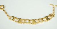 beaded bears - stainless steel bear letter bracelet