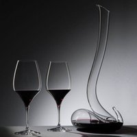 Wholesale Transparent Snake Style Crystal Glass Red Wine Decanter