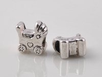 antique metal toy cars - big hole beads sterling silver plated antique silver Suitable for European charm bead toy car bracelet jewelry DIY Pandora style