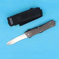auto fishing - New Arrival High End Microtech Troodon Auto Tactical Knife D2 HRC58 Satin Blade EDC Pocket Knife Xmas Gift