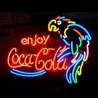 Wholesale 17 quot quot Enjoy Coco Cola Glass Neon light Sign Beer Bar Store Club Party Display