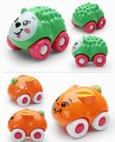 Wholesale 8pcs set magnetic cars toys inertial mini animal cartoon cars original box Kids toys Beach toy pull back cars playing toys