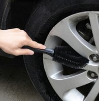 Wholesale 1pc Wheel Tire Cleaning Brush Black For Car Truck Motorcycle Bicycle Washing Cleaning