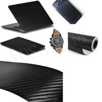 achat en gros de carbon sticker for car-30x152cm Autocollant de voiture Fibre de carbone Vinyle Auto Wrapping Film Fibre Autocollant Motocycle Autocollant 3D Carbon Fibra de Carbono