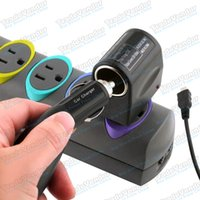 Wholesale US Plug AC To DC Car Cigarette Lighter Socket Charger Power Converter Wall Charger Adapter Under W