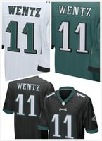 Wholesale 2016 New Arrived Hot Men Eagles Carson Wentz Blue White women Football Jerseys Mix Order