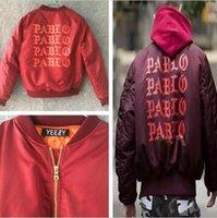 bat man logos - have logo Pablo MA1 Bomber Jackets Men Hip Hop Thick Coats WEST Bomber Jacket Men Windbreaker Jackets High quality fashion