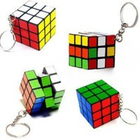 adult car games - Factory directly sales mini Keychain cube x3x3cm Puzzle Magic Game Toy Key Keychain Building blocks Adult Children Educational Toys