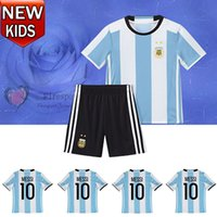 toddler jerseys - 2016 Kids MESSI soccer Jerseys Argentina Home Soccer Jerseys Sets Youth boys Soccer Uniforms Childrens Football Kits Toddler Jerseys