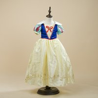 aurora costume - 2016 New Girls Cinderella Dresses Children Snow White Princess Dresses Rapunzel Aurora Kids Party Costume Clothes Shipping Ylf47