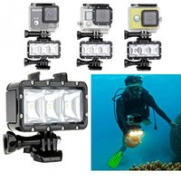 Wholesale GoPro Accessories Underwater Light Diving waterproof LED video light Battery mount For GoPro Session Hero4 Xiaomi Yi SJ4000