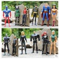 atom movies - 12pcs set Justice League Superman Wonder Woman The Atom Black Canary cm PVC Action Figure Toy