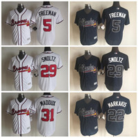 baseball johns - Cheap Atlanta Braves Greg Maddux Jerseys Freddie Freeman Baseball Jersey Nick Markakis John Smoltz Stitched Logo Baseball Jersey