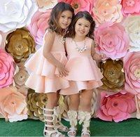 air bow - Summer Girls Air Cotton Sleeveless Dresses Flouncing High Waist Princess Dresses Kids Girl Party Dress KB483
