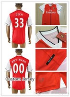 arsenal soccer jersey cheap - Top Thai Quality Arsenal Cheap Soccer Jersey Men Home Red CECH ALEXIS GIROUD WILSHERE OZIL WALCOTT etc Soccer Jerseys