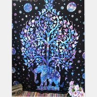 Wholesale Bedding Outlet Vanitas Mandala Tapestry Moroccan Indian Printed Decorative Wall Tapestries White x153cm Tapestry hanging mural beach towe