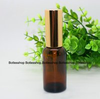 amber spray bottle - Fast Shipping ml amber glass bottle with lotion pump sprayer Essential Oil Spray Glass Bottles factory With In China