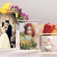 acrylic box photo frames - Supply acrylic plexiglass magnet photo frame inches X127mm european creative Have many different size and can customize any size