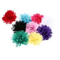 Wholesale 9 Colors Lovely Colorful Flower Baby Headband Girl Hair Band Stretchy Knit Ribbon Headwear