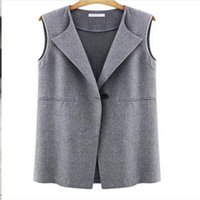 Wholesale Ms Spring and Autumn new European and American fashion suit vest sleeveless jacket