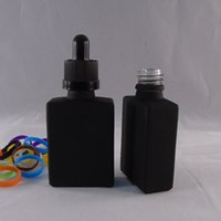 fragrance oil - 30ml Flat square black Glass Dropper Bottle e Liquid e juice Fragrance Perfumes Juice Refillable Bottles essential oil Containers colors