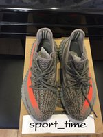 Wholesale Boost V2 Original Running Shoes Sply Orange Sports Shoes Men Sneakers Boost Season Kanye West Shoes With Original Box Socks