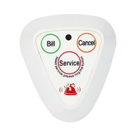 Wholesale 10pcs MHz M Wireless Calling System Call Button Guest Waiting Pager With White Color F3114B
