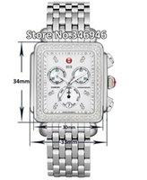michele watch - Hottest Luxury watches Michele Deco Diamond Chronograph Day Date Fully Function Quartz Watch Fashion Women s Dress Watches