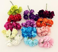 Wholesale cm Paper Rose Flower Wedding Decoration DIY Wreath Gift Box Scrapbooking Craft Fake Flower