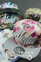 aloha shipping - 3D embroidery aloha flower leaves Flat brim snapback baseball cap pu hip hop hat Men Women A124