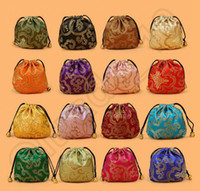 bags party pack - 500PCS LJJH1368 Wedding Party Favor Gift Candy Bag Jewelry Packing CM satin Jewellery Drawstring Gift Bag POUCHES