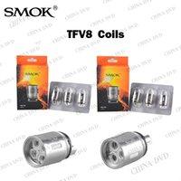 Electronic Cigarette Aw Rechargable Battery 3.7v 100%Authentic Smok TFV8 Coil Head V8-T8 V8-T6 V8-Q4 V8 RBA Replacement Coils Fit TFV8 Cloud Beast Tank Vs Aspire Nautilus Mini Coils
