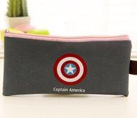 Wholesale Superhero pencil bag superman batman Captain Americ Transformers Canvas Cartoon Pencil case bags Back to school party favor new makeup bag