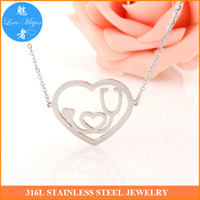 american connection - Hot Latest Fashion Heart Connection Stainless Steel Stethoscope Design Statement Choker Necklace Pendant Jewelry For Women