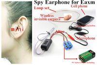 Wholesale 1pcs super Mini invisible Spy Earphone for FBI Wireless Hidden Cell Phone nano Earpiece covert Headphone