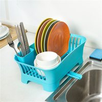Wholesale Drain kitchen cupboard plastic chopsticks cutlery rack storage box to put the dishes basket bowl with lid rack shelving