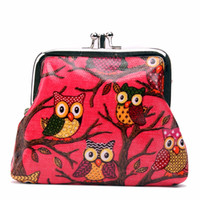 bank exchange - Wallets Holders Coin Purses Women Men Owl Butterfly Polka Dot Scottie Dog Oilcloth Small Exchange Coin Purse Pouch Bank Credit Cards Walltet