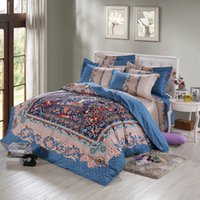Wholesale Louis cotton reactive printing bedding set bedsheet duvet cover pillowcase home textile bed clothes