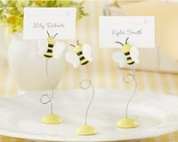 baby party places - 100pcs wedding party decoration Lovely quot Sweet as Can Bee quot Baby honeybee Place Card Holder free ship
