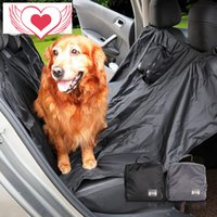 Wholesale Pet Dog Products Collapsible Two side use Automobile Waterproof Pad Outdoors Travel Articles Rear Seat Cushion