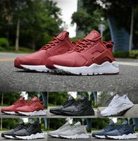 Wholesale 2016 New air Huarache III Running Shoes For Women Men Black White Red Leather High Quality Sneakers Huaraches Sport Shoes