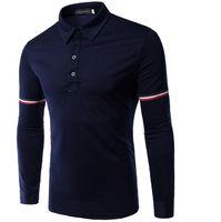 Wholesale Brands Men Casual T shirt Slim Fit Men Tops High Quality Men Outwear Fashion Men T shirt Business Casual Long Sleeve T shirt